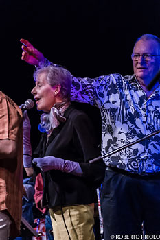 Kate Westbrook and Mike Westbrook with Artchipel Orchestra  - photo Roberto Priolo