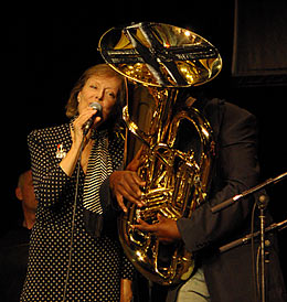 Kate Westbrook / Andy Grappy (behind tuba) / Richard Newby (behind Kate)